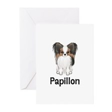 Papillon (word) Greeting Cards (Pk of 10)