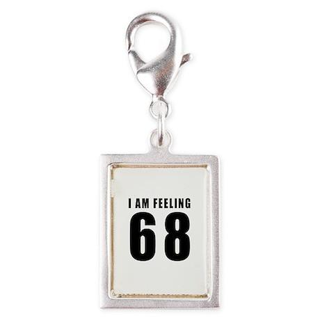 I am feeling 68 Silver Portrait Charm