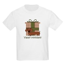 Yappy Holidays Dachshund and Gifts T-Shirt