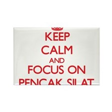 Keep calm and focus on Pencak Silat Magnets