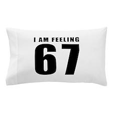 I am feeling 67 Pillow Case