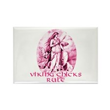 Viking Chicks Rule Rectangle Magnet