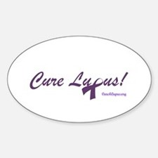 Cure Lupus Oval Decal