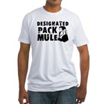 Designated Pack Mule Fitted T-Shirt