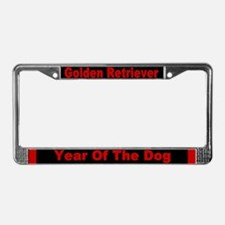 Year of the Dog License Plate Frame