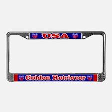 Golden Retriever-USA- License Plate Frame