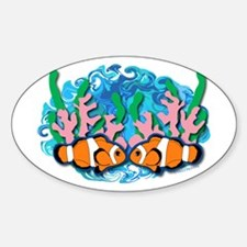 Clown Fish Oval Decal