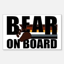 Bear on Board Rectangle Decal