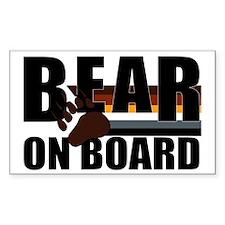 Bear on Board Rectangle Stickers
