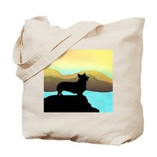 corgi by the sea Tote Bag