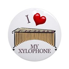 I Love My XYLOPHONE Ornament (Round)