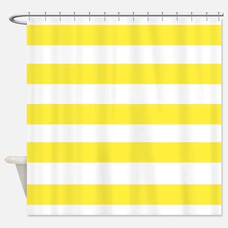 Yellow Stripes Shower Curtains