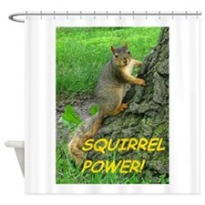 Squirrel Power! Shower Curtain