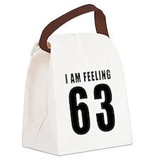 I am feeling 63 Canvas Lunch Bag