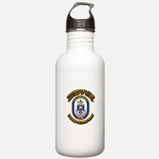 USS Normandy (CG-60) with Text Water Bottle