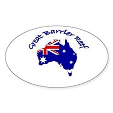 Great Barrier Reef, Australia Oval Decal