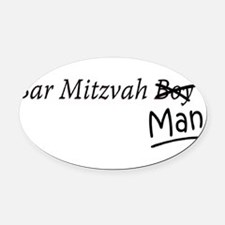 Funny Bar-Mitzvah B... Oval Car Magnet