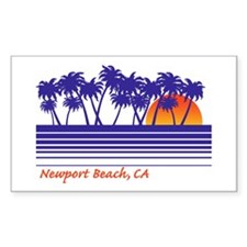 Newport Beach California Rectangle Decal
