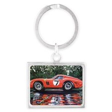 Ferrari GTO Le Mans 62 Garden Landscape Keychain
