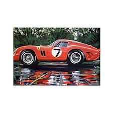 Ferrari GTO Le Mans 62 Garden Rectangle Magnet