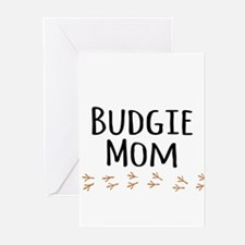 Budgie Mom Greeting Cards