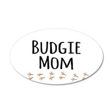 Budgie Mom Wall Decal