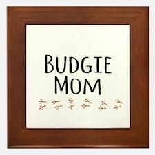 Budgie Mom Framed Tile