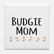 Budgie Mom Tile Coaster