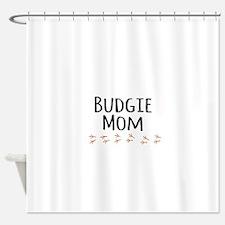 Budgie Mom Shower Curtain