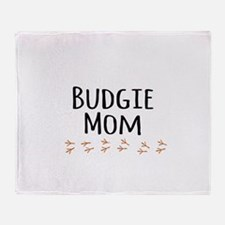 Budgie Mom Throw Blanket
