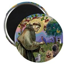 St Francis/Cairn Terrier Magnets