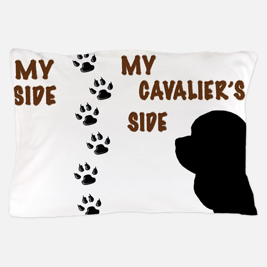 My Side My Cavaliers Side Paw Prints Pillow Case