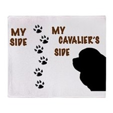 My Side My Cavaliers Side Paw Prints Throw Blanket