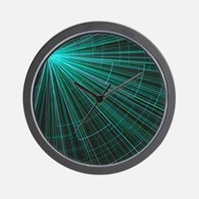graphical style torquoise Wall Clock