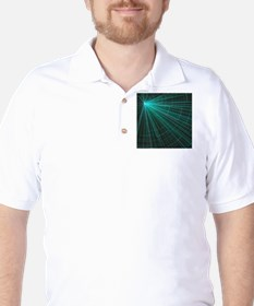 graphical style torquoise T-Shirt