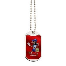 mailCarrierOrnBLWoman.png Dog Tags