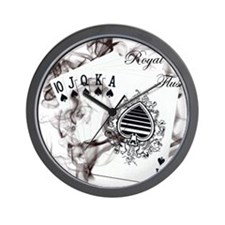 SmokinRoyalFlush.png Wall Clock