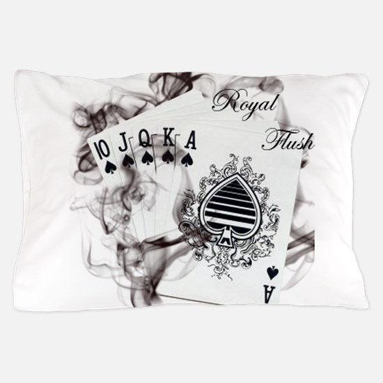 SmokinRoyalFlush.png Pillow Case