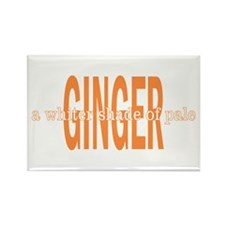Ginger Whiter Shade Of Pale Rectangle Magnet