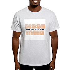 White sissy maid T-Shirt