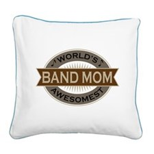Awesome Band Mom Square Canvas Pillow
