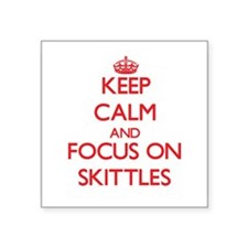 Keep calm and focus on Skittles Sticker