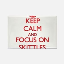 Keep calm and focus on Skittles Magnets