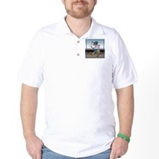 mailCarrierBLMaleTile.png T-Shirt
