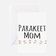 Parakeet Mom Greeting Cards