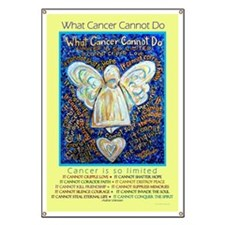 Blue & Gold Cancer Angel Banner