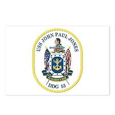 USS John Paul Jones (DDG-53) Postcards (Package of
