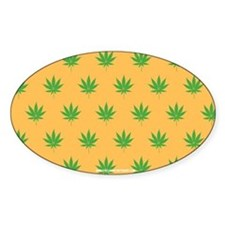 Pot Weed High Hippie 420 Gold Decal