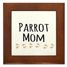 Parrot Mom Framed Tile