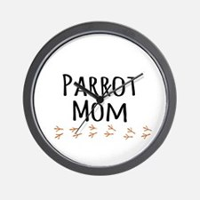 Parrot Mom Wall Clock